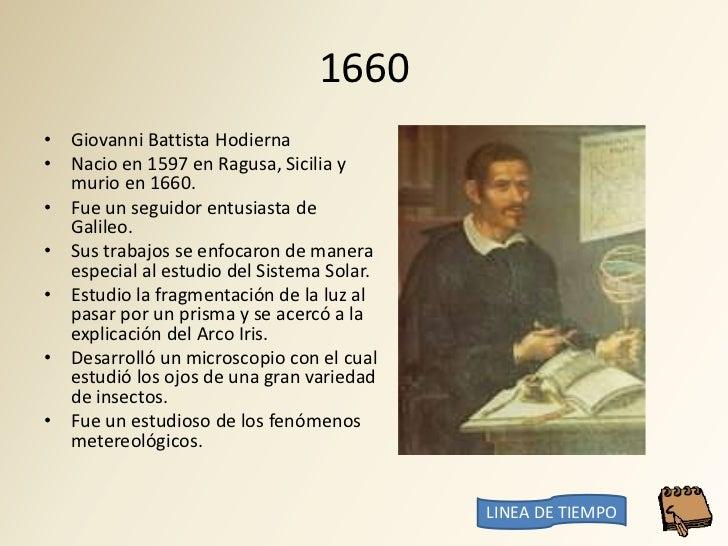 1660 • Giovanni Battista Hodierna • Nacio en 1597 en Ragusa, Sicilia y   murio en 1660. • Fue un seguidor entusiasta de   ...