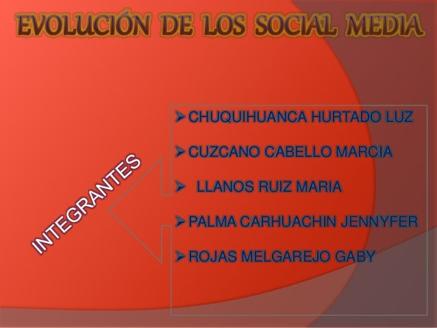 CHUQUIHUANCA HURTADO LUZ  CUZCANO CABELLO MARCIA   LLANOS RUIZ MARIA  PALMA CARHUACHIN JENNYFER  ROJAS MELGAREJO GABY