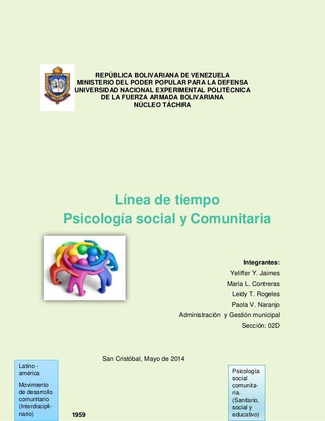 REPÚBLICA BOLIVARIANA DE VENEZUELA MINISTERIO DEL PODER POPULAR PARA LA DEFENSA UNIVERSIDAD NACIONAL EXPERIMENTAL POLITÈCN...