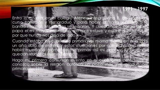1991 - 1997 Entro a estudiar en el colegio Ateneo Integral Ana B. de Flórez ahí curso transición y me graduó y paso hacer ...