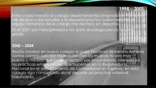 1998 – 2001 Entro a bachillerato al colegio departamental integrado de Fontibón me dedico a mis estudios y el deporte prac...