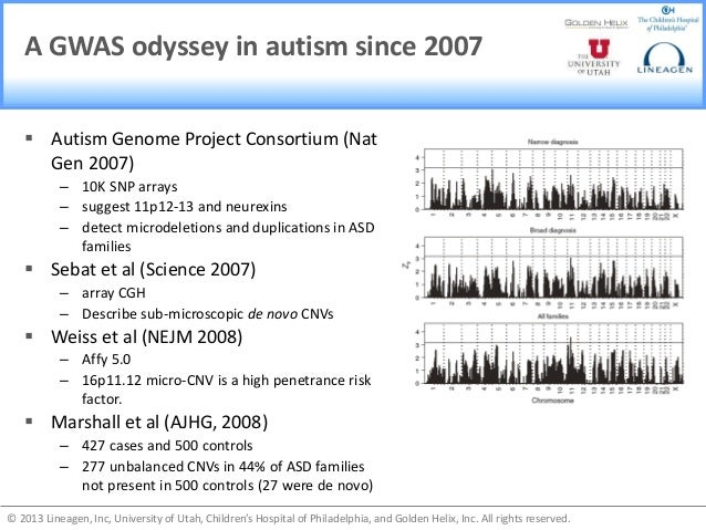 PLOS ONE: Genome-Wide Association Study for Autism ...