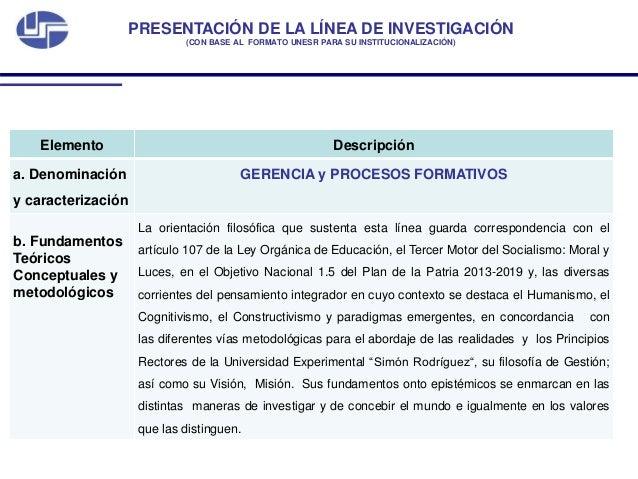 Linea investigacion gerencia y procesos formativos