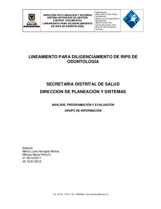 DIRECCIÓN DE PLANEACIÓN Y SISTEMAS SISTEMA INTEGRADO DE GESTIÓN CONTROL DOCUMENTAL LINEAMIENTO PARA DILIGENCIAMIENTO DE RI...