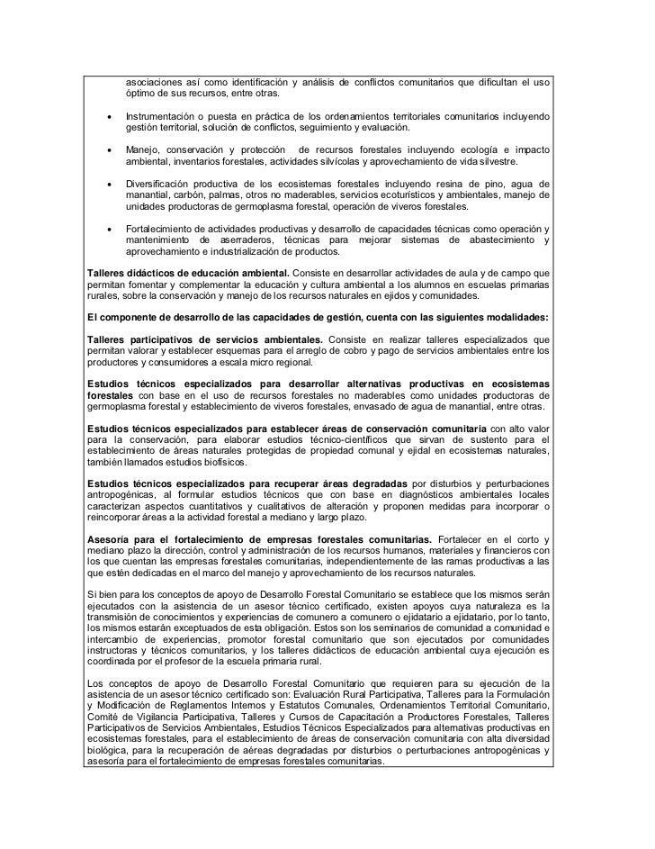 Lineamientos 2012 conafor for Viveros forestales conafor