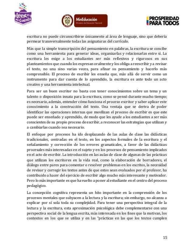 Lineamientos Conceptuales - Plan Nacional de Lectura y Escritura