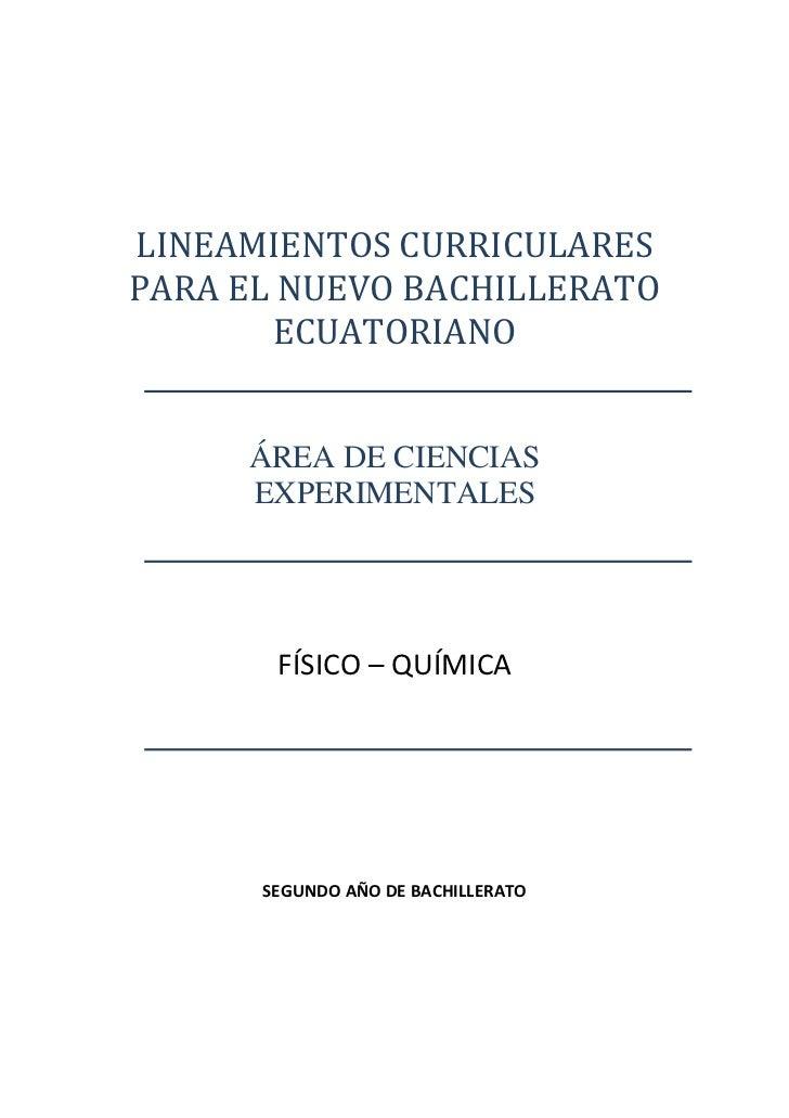 LINEAMIENTOSCURRICULARES    PARAELNUEVOBACHILLERATO            ECUATORIANO...