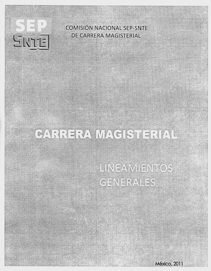 r.1      COMISION NACIONAL SEP-SNTE        DE CARRERA MAGISTERIAL       TAM   u                                   Mexico, ...