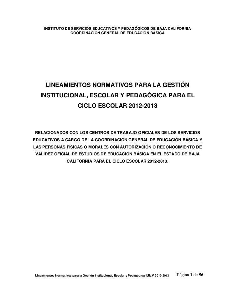INSTITUTO DE SERVICIOS EDUCATIVOS Y PEDAGÓGICOS DE BAJA CALIFORNIA                  COORDINACIÓN GENERAL DE EDUCACIÓN BÁSI...