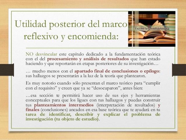 Lineamientos para elaborar marco reflexivo de su tesis