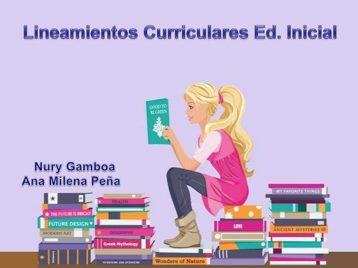 Lineamientos curriculares de    las diferentes áreas       El distrito capital presenta este    documento para la educació...