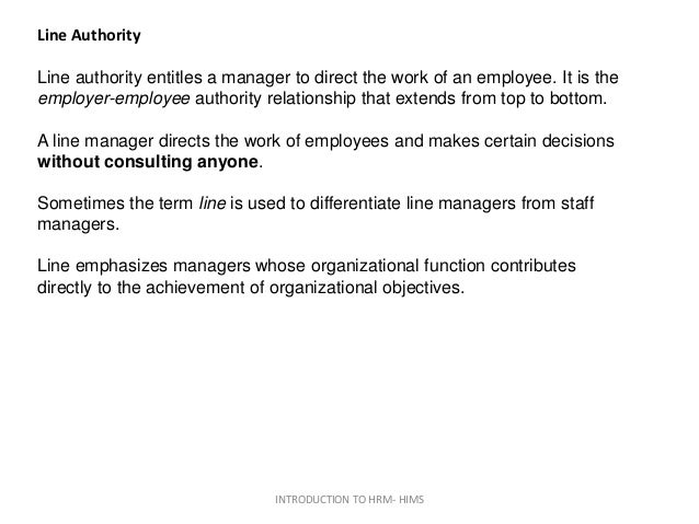 differentiate line and staff relationship in organization