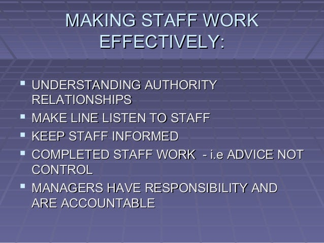 line and staff relationship in hrmis2