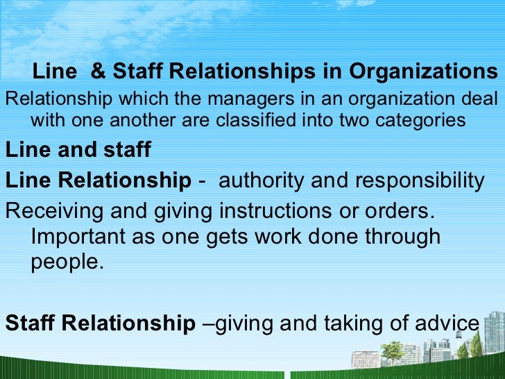 line and staff relationship definition