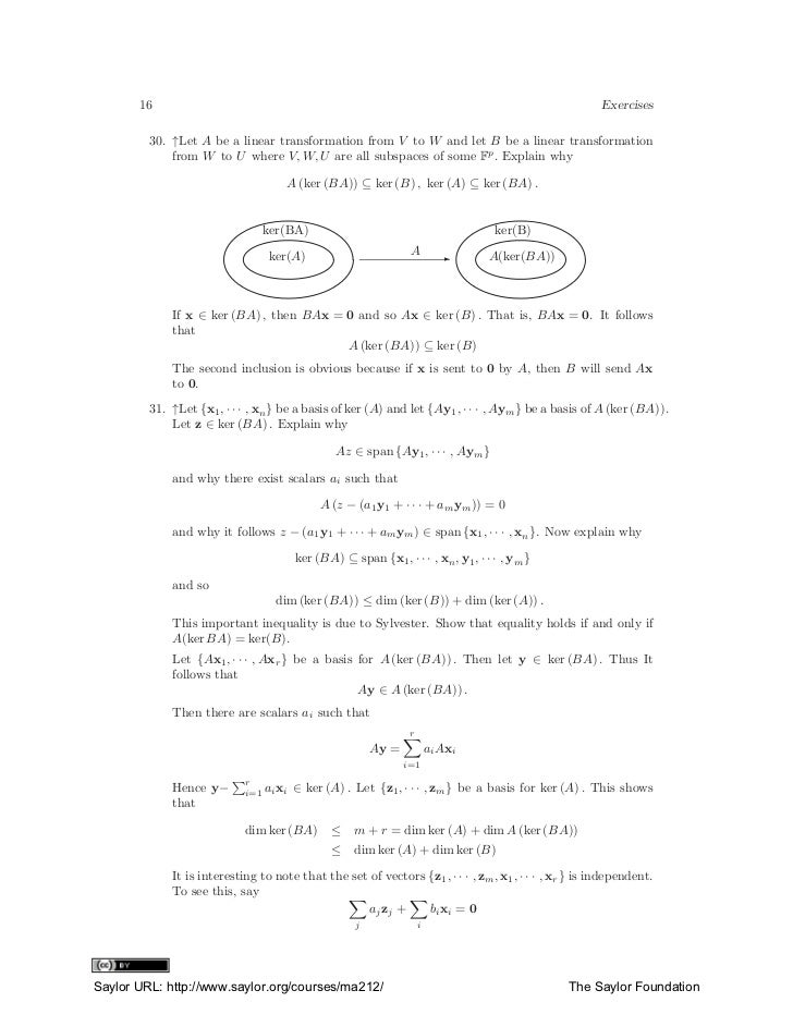 kuttler linear algebra solutions manual