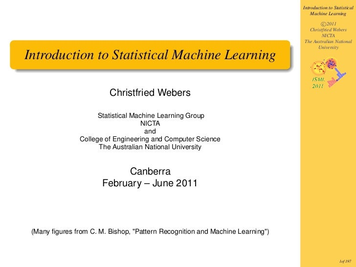 Introduction to Statistical                                                                                   Machine Lear...