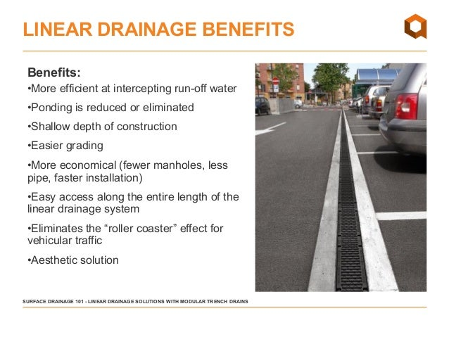 Linear surface drainage 101 trench drain applications for Surface drainage solutions