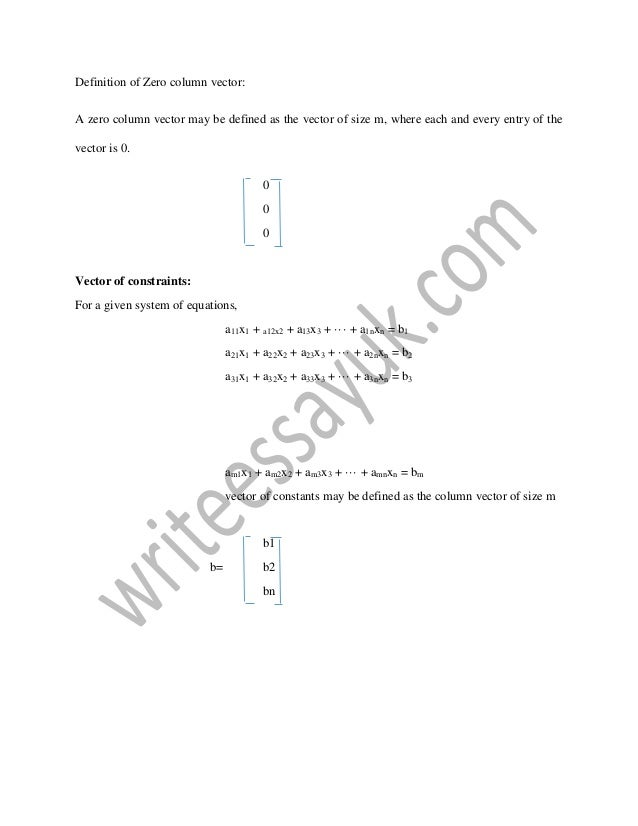 Linear Algebra and its use in finance: