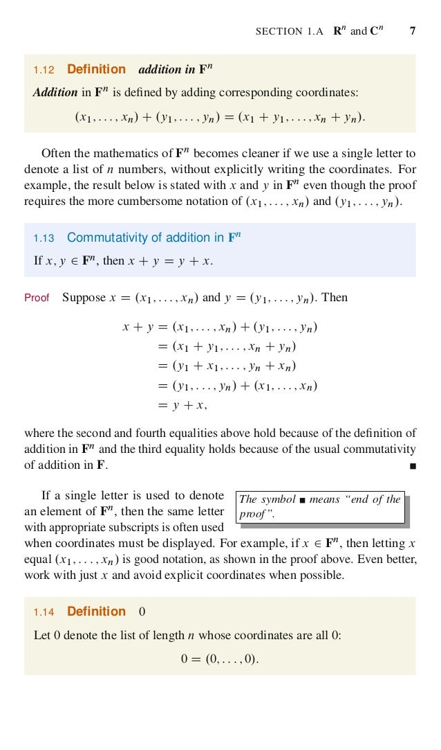 Linear algebra done right 24 fandeluxe Choice Image