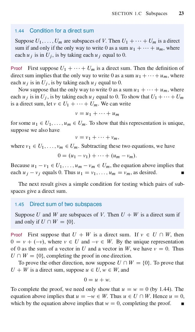 Linear algebra done right 7 chapter 1 vector spaces 40 fandeluxe Gallery