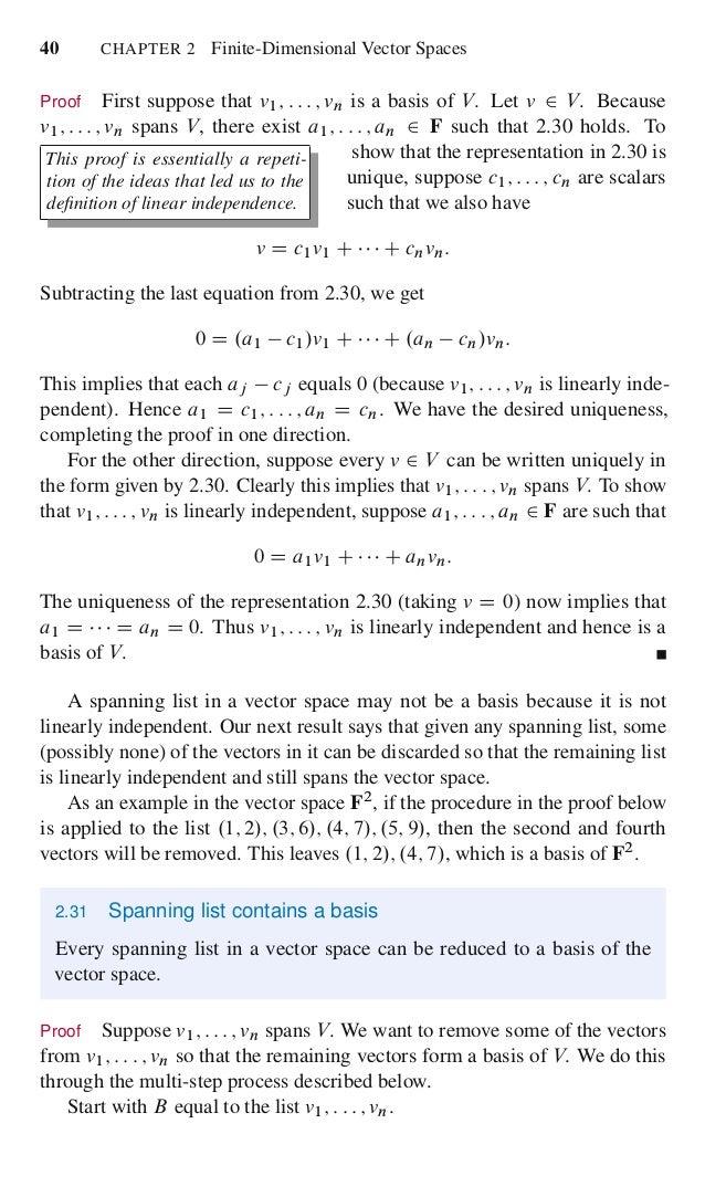 Linear algebra done right 57 fandeluxe Gallery