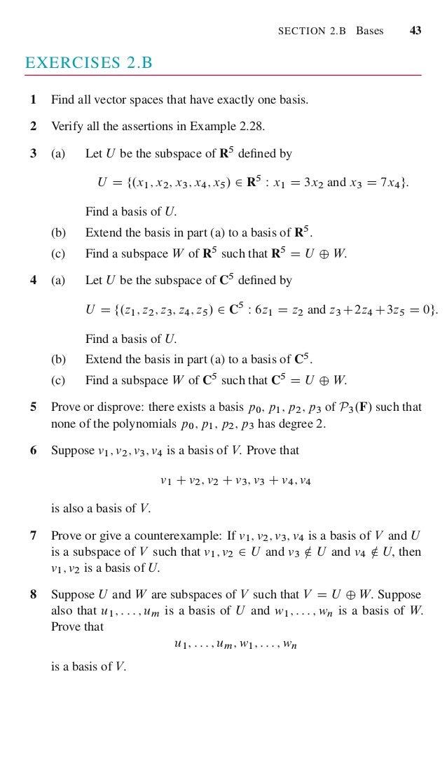 Linear algebra done right 60 fandeluxe Gallery