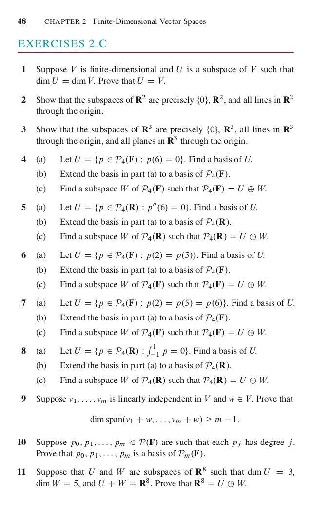 Linear algebra done right 65 fandeluxe Gallery