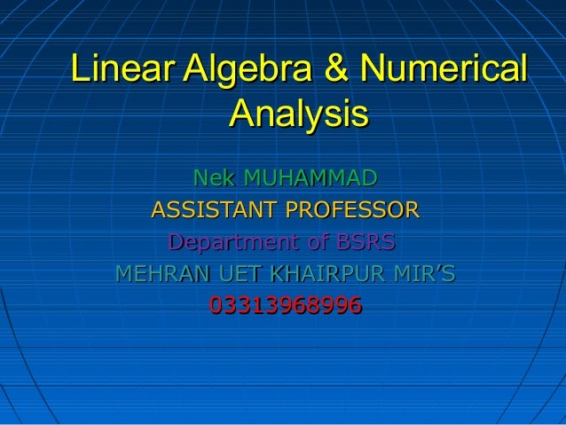 Linear algebra notes 1
