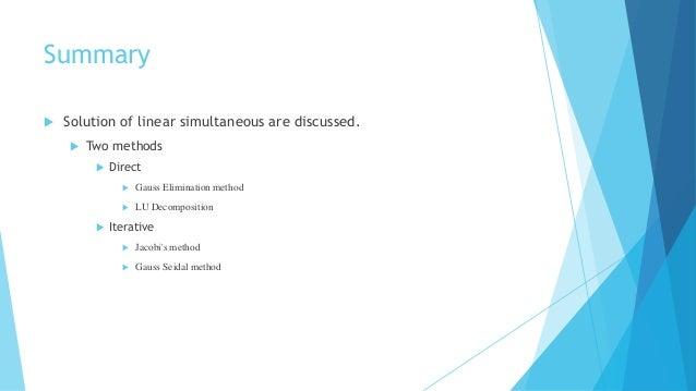 gauss elimination method example pdf