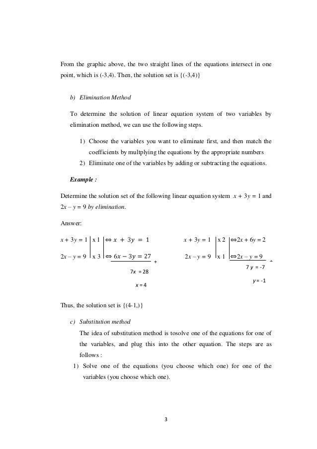 sistem persamaan linear dan kuadrat dalam bahasa inggris Slide 3