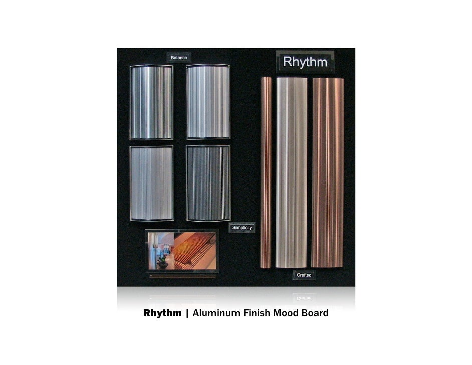 Rhythm | Aluminum Finish Mood Board