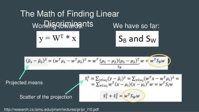 Introduction to Linear Discriminant Analysis