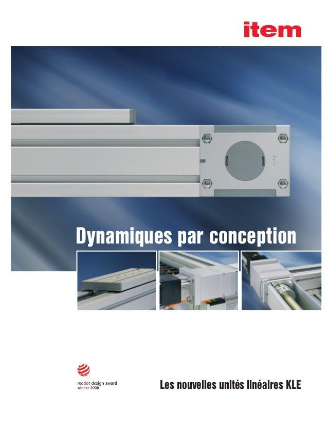 Les nouvelles unités linéaires KLE Dynamiques par conception
