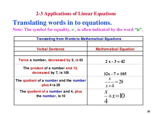 application of linear functions in the 13 applications of systems of linear equations 25 13 applications of systems of linear equations set up and solve a system of equations to fit a polynomial function to a set of data.