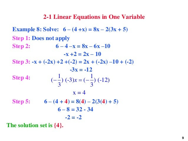 how to create a linear equation
