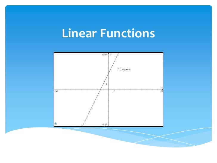 Linear Functions<br />