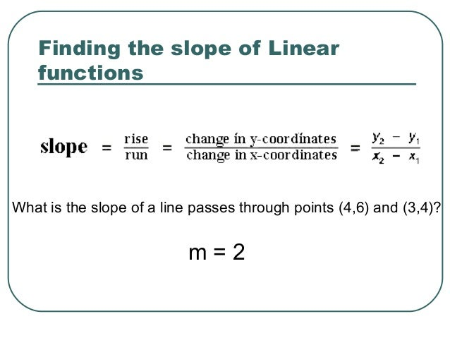 how to tell if slopes are linear