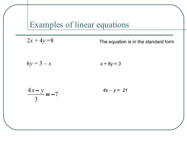 Linear Function And Slopes Of A Line