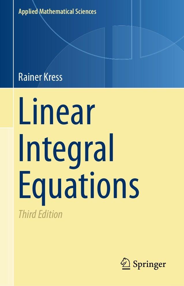 Linear Integral Equations Kress Pdf