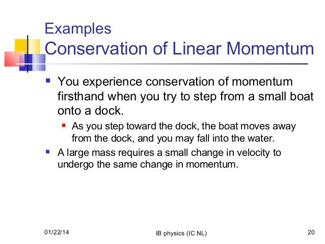 an analysis of the law of conservation of momentum in physics It presents some of the clips and animations with play and pause controls, and it gives some clips of air track collisions, along with their analysis it also has some examples not used in the multimedia tutorial momentum is the product of mass and velocity newton's laws and conservation of momentum forces are large.