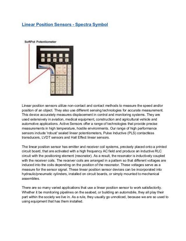 Linear positionsensors spectrasymbol