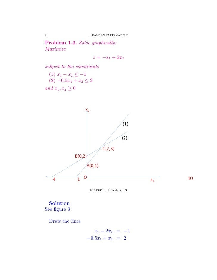 how to solve linear programming problems