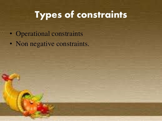 Image result for operational constraints