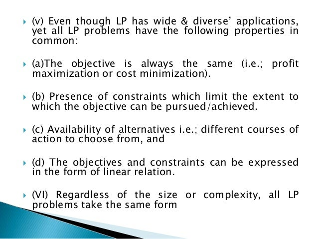 the scope and role of linear programming in solving management problems Linear programming: meaning, characteristics lp technique cannot solve the business problems of non-linear project management essay on linear programming.