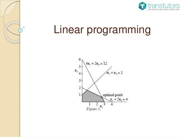 linear programming in economics