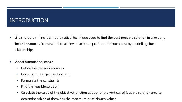 definition of objective function in linear programming