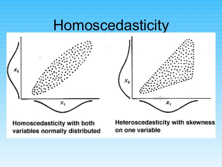 Homoscedasticity <ul><li>Heteroscedasticity is not fatal  - but it weakens the analysis. </li></ul>