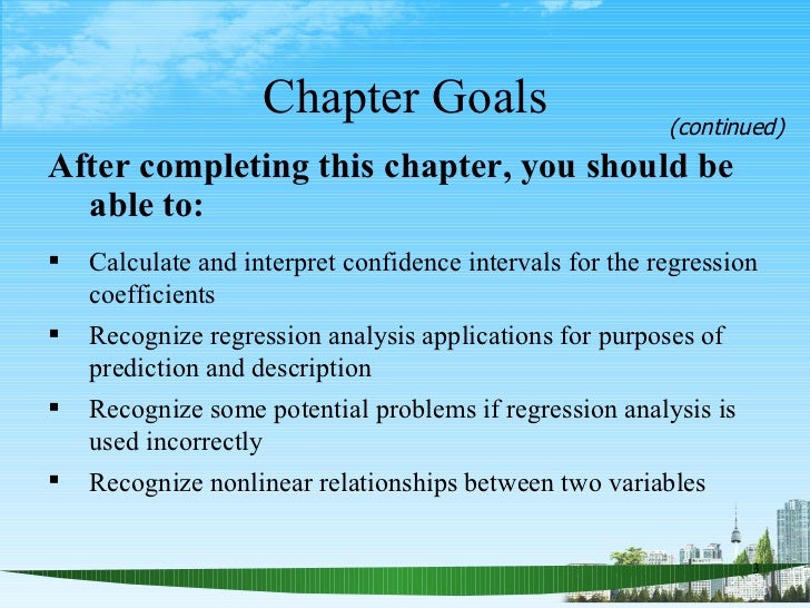 Chapter Goals <ul><li>After completing this chapter, you should be able to:   </li></ul><ul><li>Calculate and interpret co...