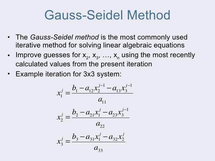 GAUSS SEIDEL ALGORITHM PDF