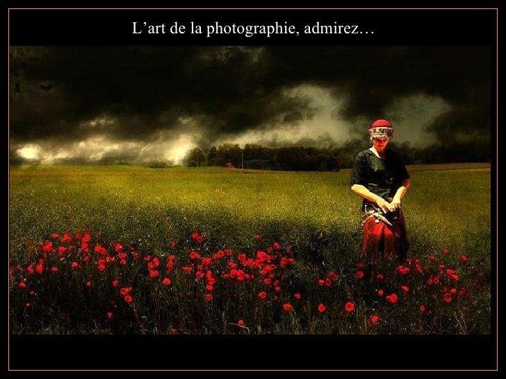 L'art de la photographie, admirez…